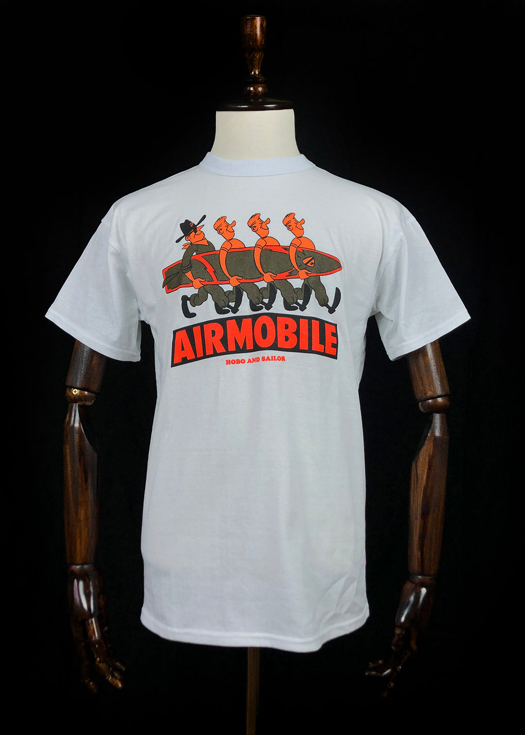 T-shirt. Airmobile. White