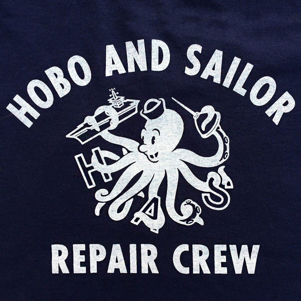 T-shirt. Repair Crew. Navy Blue