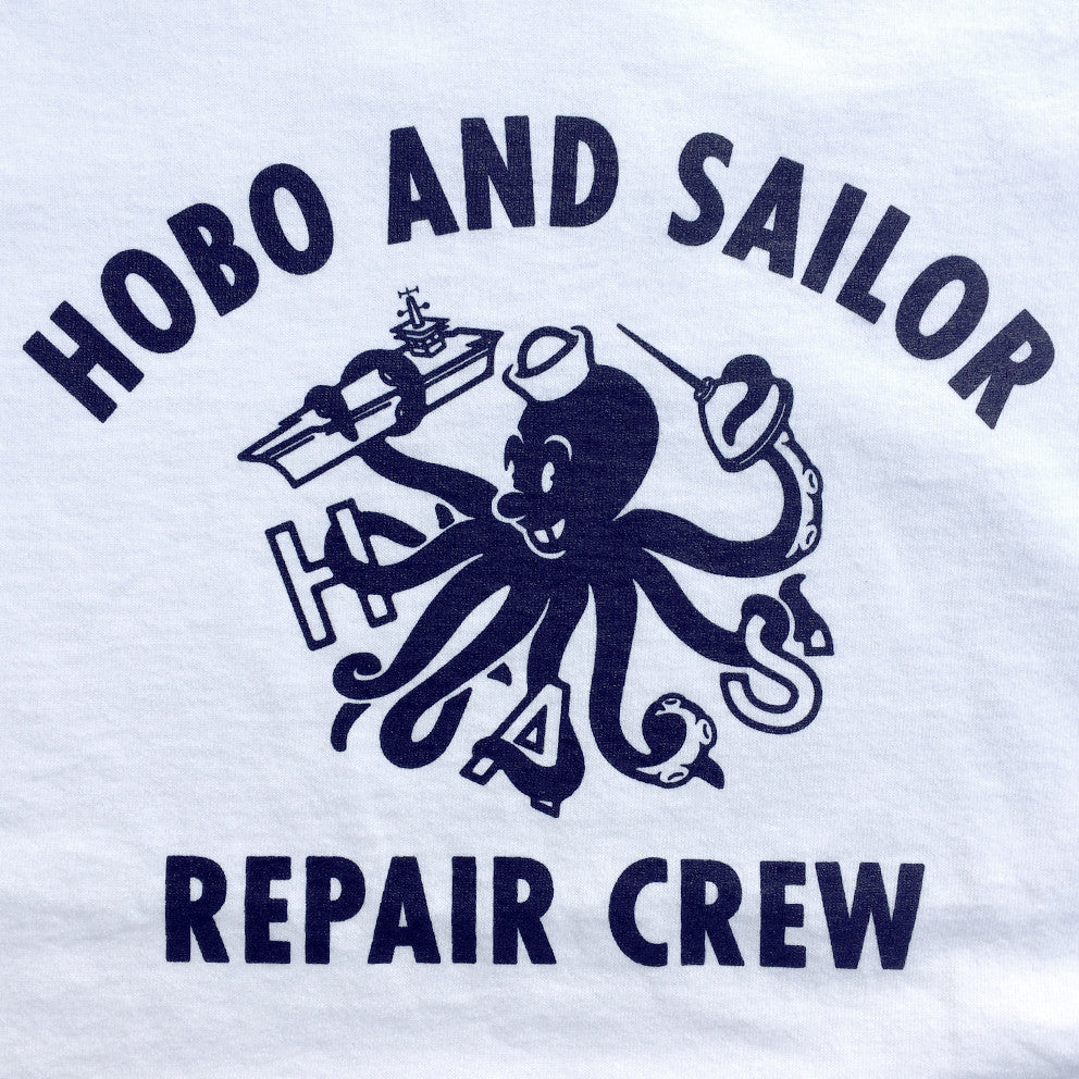 T-shirt. Repair Crew. White