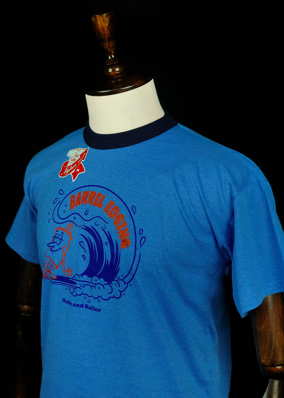 T-shirt. Barrel. Melange Blue