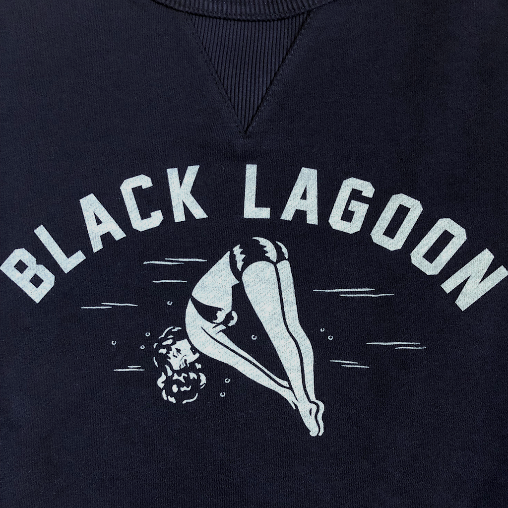 Women's Sweatshirt. Black Lagoon