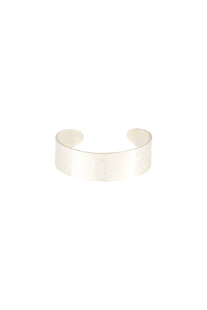 Brushed Cuff rannekoru - hopeoitu