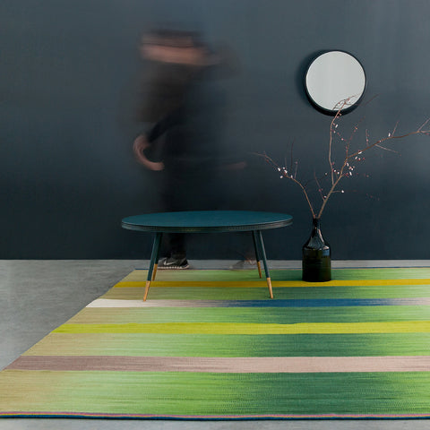 Flatweave Rug - Green Spectrum - Designed by Ptolemy Mann