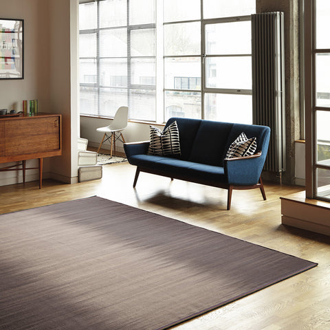 ON SALE and IN STOCK...Flatweave Rug - GREY Colourfield Gelim - Designed by Ptolemy Mann
