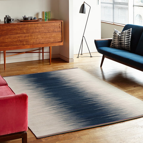 Flatweave Rug - Indigo Colourfield Gelim - Designed by Ptolemy Mann