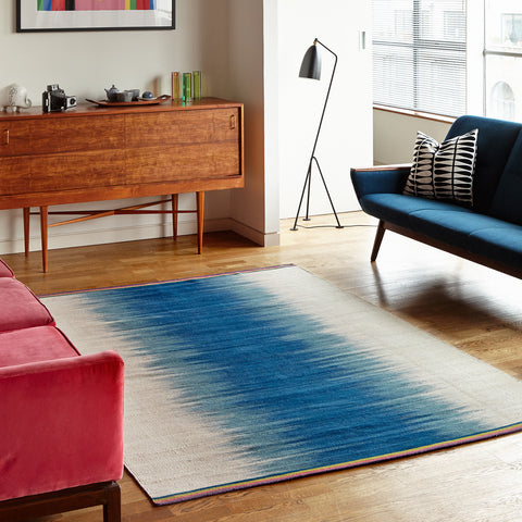 Flatweave Rug - Petrol Colourfield Gelim - Designed by Ptolemy Mann