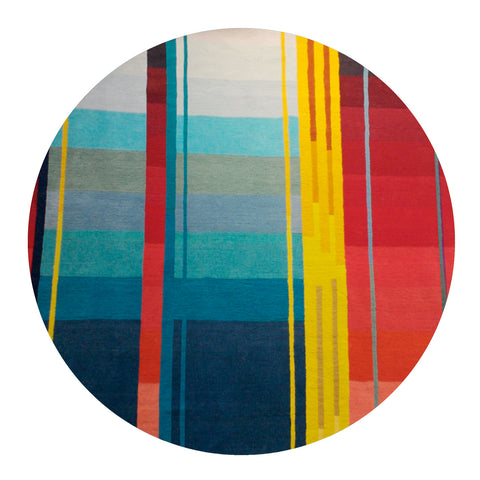 Colourful Pile Rug - Red Vortex - Designed by Ptolemy Mann