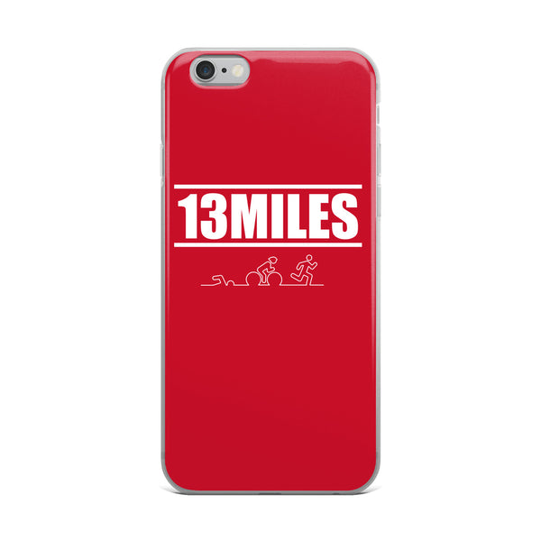 13 Miles iPhone Case Red