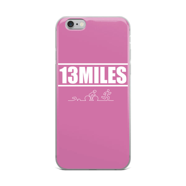 13 Miles iPhone Case Pastel Pink