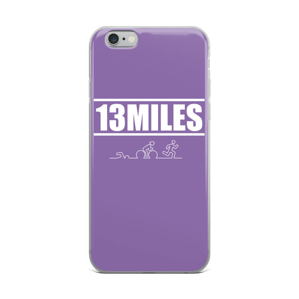 13 Miles iPhone Case Purple