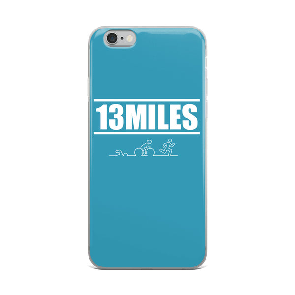 13 Miles iPhone Case Aqua