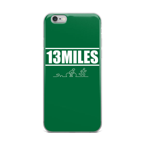 13 Miles iPhone Case Forest Green