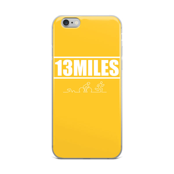 13 Miles iPhone Case Yellow
