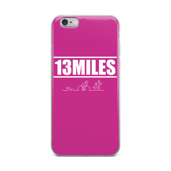 13 Miles iPhone Case Dark Pink