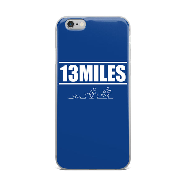 13 Miles iPhone Case Dark Blue