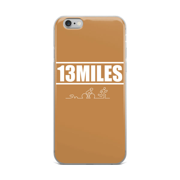 13 Miles iPhone Case Caramel