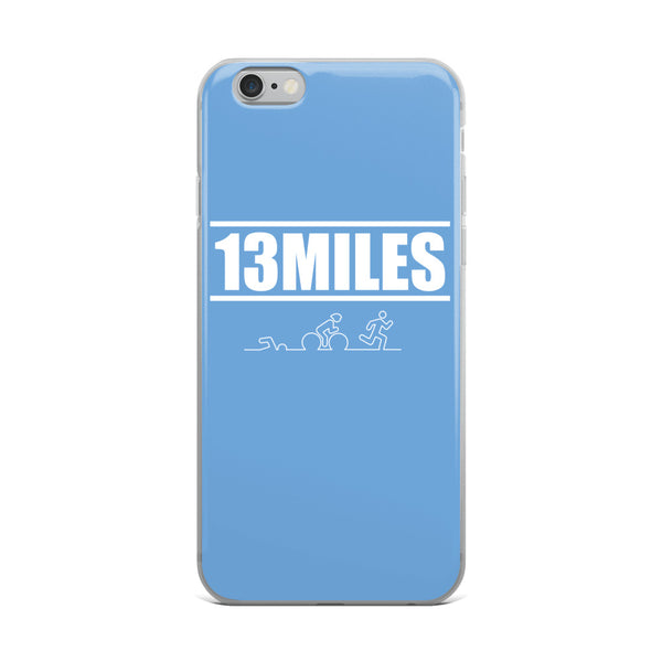 13 Miles iPhone Case Light Blue