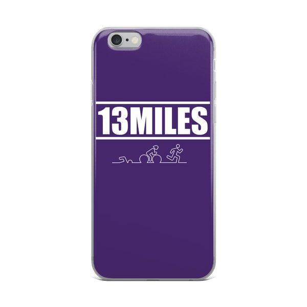 13 Miles iPhone Case Dark Purple
