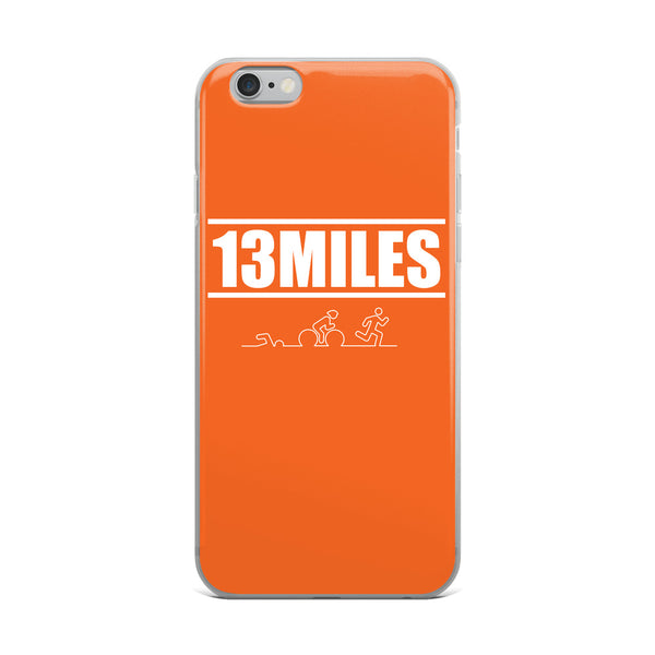 13 Miles iPhone Case Orange
