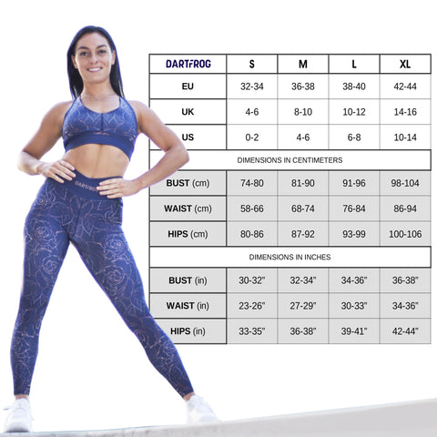 workout clothes for women dartfrog size chart