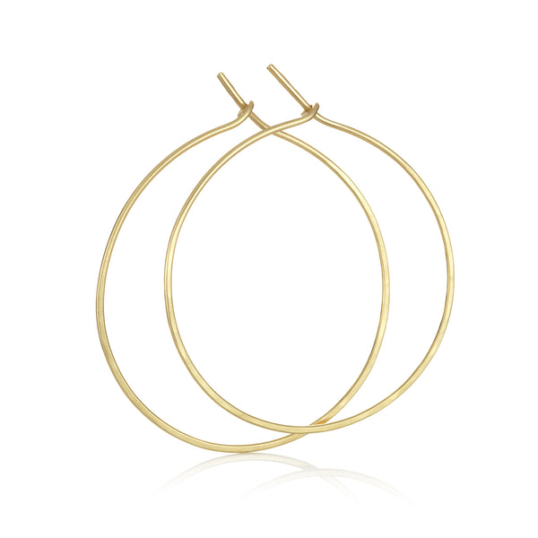 Hand made in London Brooke Gregson 18k gold hammered hoop earrings