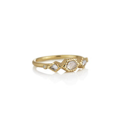 Hand made in London Brooke Gregson 18k Gold Diamond Wedding Ring