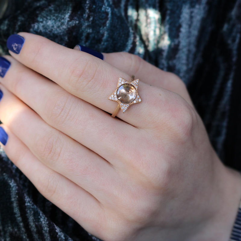 DIAMOND STAR ROSE RING