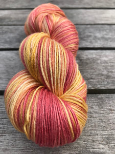 2ply 100% Mulberry Silk 'Nectarine Dreams'