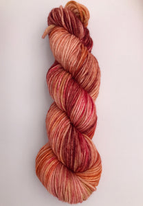 8ply Merino 'Toffee Apple'