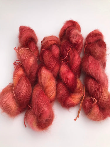 2ply Silk / Mohair 'Toffee Apple'