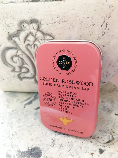 Golden Rosewood Solid Hand Cream Bar