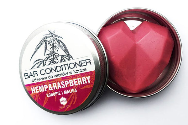 Raspberry and hemp conditioner bar