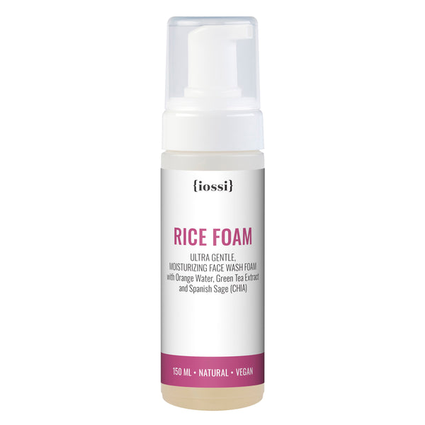 Rice Foam. Moisturising, gentle facial foaming cleanser
