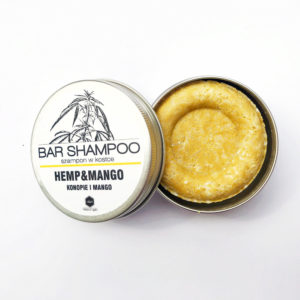 Mango and hemp shampoo bar by Herbs & Hydro