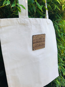 EarthAware™  natural cotton tote bag for life