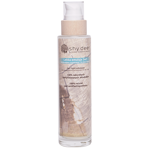 2in1 light emulsion for make up removal and cleansing by Shy Deer