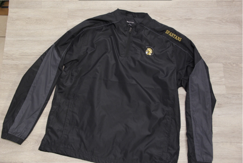 BLACK / GRAPHITE 1/4 ZIP WID JACKET