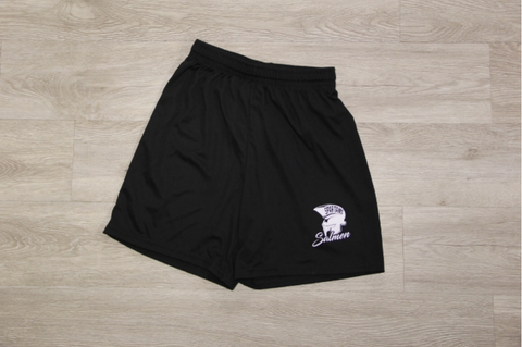 "Salmen Black Sport Wicking Gym Short 7"" Inseam"