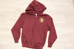 Honey Island Elem Maroon Full Zip Fleece Hoodie