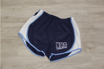 NHS Navy/White/Columbia Lady 100% Poly Running Short