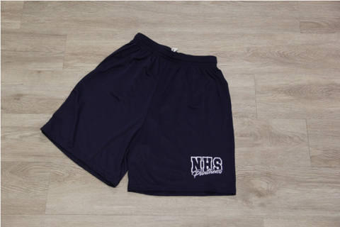 "NHS Navy Men Sport Wicking Short 7"" Inseam"
