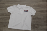 Boyet Jr. High White 50/50 Pique Polo