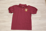 Honey Island Elem Maroon 50/50 Jersey Knit Polo