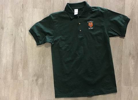 Slidell Jr High Dark Green 100% Poly Polo