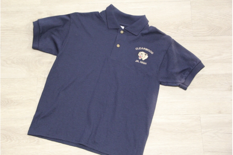 Clearwood Jr High Navy 50/50 Jersey Knit Polo