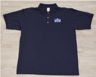 NHS Navy 50/50 Jersey Knit Polo