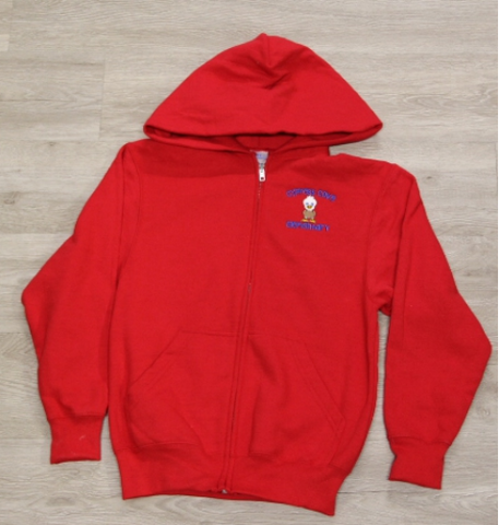 Cypress Cove Elem Red Full Zip Fleece Hoodie