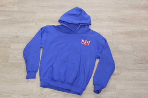 Boyet Jr. High Royal Embroidered Unisex Fleece Hoodie