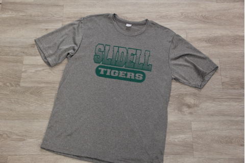 SPORT GRAY 100% POLY TEE