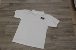 Boyet Jr High White 50/50 Jersey Knit Polo